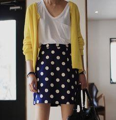 polka dots and cardigans...