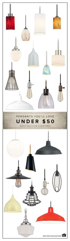 Unique pendant lighting for your kitchen, bathroom, bedroom, and beyond at a great price. Head over to DestinationLighting.com to shop our large selection of pendant lights.
