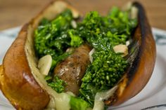 Italian Sausage with Broccoli Rabe & Provolone.