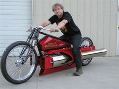 Home made twin engine pulse jet motorcycle .