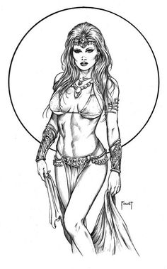 Dejah Thoris Art By Mitch Foust