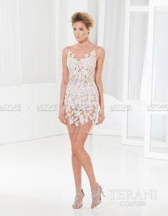 Vestido de Festa Curto Ilusione com Renda Carine C3701