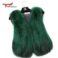 Fashion New Kids Colourful and Women Fox Fur Vest Children Girls Autumn Winter Warm Thick Fur Vest Multiple Colour Vests A#39