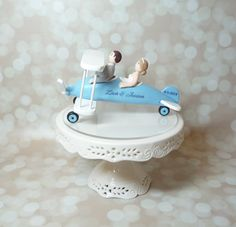 Plane wedding cake topper. Airplane bride by BlueButterflyDesign
