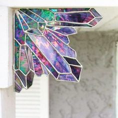 This is incredible - I love this stained glass amethyst bracket!
