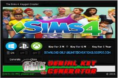 The Sims 4 Game Serial Key Generator 2017 No Survey Free Download http://gameserialkeygenerator.blogspot.com/2017/03/the-sims-4-game-serial-key-generator-pc.html