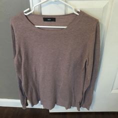 Dark Blush Sweater Beautiful sweater made from light weight cotton.  Perfect for layering!  Good used condition.  Sorry no trades. Mossimo Supply Co Sweaters Crew & Scoop Necks