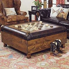 how to build a rustic checkerboard table | coffee, game rooms and