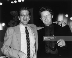 1985: Photo of EAGLES and Don HENLEY and Glenn FREY, Glenn Frey (L) and Don Henley at the 2nd Annual MTV Awards