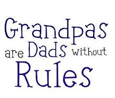 Rules for dating my granddaughter