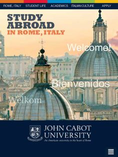 #JohnCabotU's free iPhone and iPad Application https://itunes.apple.com/us/app/study-abroad-rome-at-john/id838186697?mt=8 for students looking to #studyabroad in #Rome at John Cabot University. It provides a taste of life at JCU, in addition to travel tips, lists of free things to do in Rome, and a mini Italian-English dictionary! The application can be installed directly from iTunes and is compatible for iPhones and iPads.