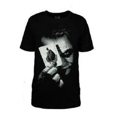 Batman the Dark Knight Joker Logo Short Cotton T-Shirts