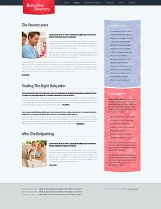 Babysitter Directory Website Templates by Nessy