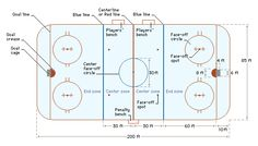 There are 9 face off spots in a hockey rink, each one a foot in diameter.