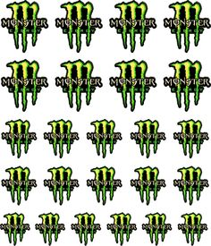 Monster Green Nail Decals