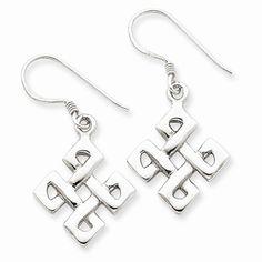 Sterling Silver Fancy Celtic Knot Earrings