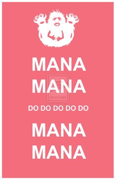 Manamana muppets-Guess what song I'll be singing all day now? The one problem that I have with this is that Mahna Mahna is spelled wrong and why is it in the form of a Keep Calm poster? But anything Muppetational is worth pinning.