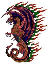 Red Dragon Embroidery design - Machine Embroidery Designs
