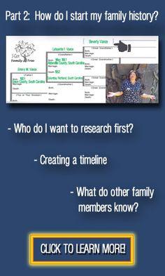 Part 2: How do I start my family history? #genealogy