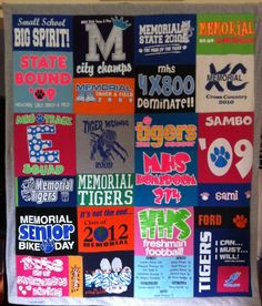 Memory-T-shirt-Quilt.  great high school graduation gift