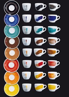 Tazze in porcellana decorate a mano. Hand Painted; #manifactured coffee cups