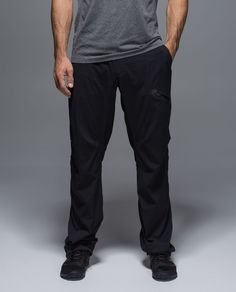 CHECK - Seawall Track Pant: Black; M We designed these pants with an athletic fit, making it easy to pull them on over compression or bike shorts so we don't have to show our stretchy-clad legs to the world post-sweat. Multiple pockets keep our gear close-by when we make our move from working hard to playing hard.