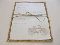 burlap wedding invitations!