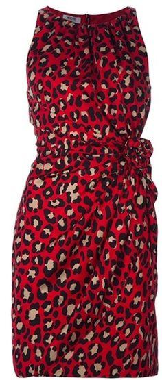 MOSCHINO Leopard Print Dress - Lyst