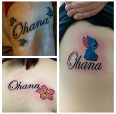 What does ohana tattoo mean? We have ohana tattoo ideas, designs, symbolism and we explain the meaning behind the tattoo. Cute Foot Tattoos, Tattoos For Kids, Best Friend Tattoos, Family Tattoos, Tattoos For Daughters, Sister Tattoos, Matching Tattoos, Body Art Tattoos, Daughter Tattoos