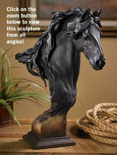 Equus Onyx Horse Sculpture by Harrison
