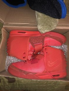30e5ed8b74ca6 Nike Air Yeezy 2 Red October size 9.5  fashion  clothing  shoes  accessories