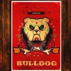 Bulldog dia de Los muertos