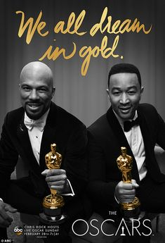 ABC has posted two brand new TV spots for The Academy Awards featuring returning host Chris Rock, as well as eight posters for The Oscars. Academy Award Winners, Oscar Winners, Academy Awards, Les Oscars, Oscars Live, Award Poster, Oscar Night, Chris Rock, John Legend