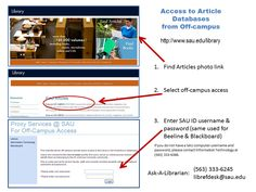 Access to article databases from off campus