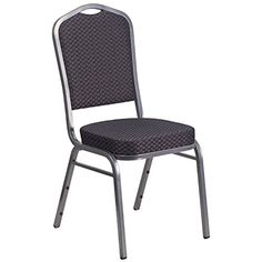 A Line Furniture Decor Black and Grey Upholstered Stack Dining Chairs Black and Gray Upholstered Stack Dining Chair 1