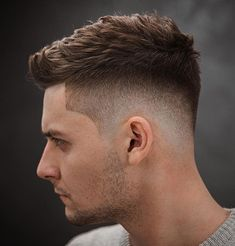 High And Tight Haircut, Low Fade Haircut, Mens Fade Haircut, Disconnected Haircut, Side Haircut, Faux Hawk Hairstyles, Mens Hairstyles Fade, Men's Hairstyles, Men Hairstyle Short