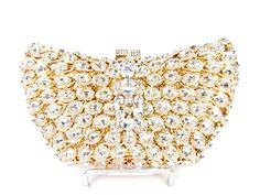 SALE SALE Gold Crystal Bridal Clutch Gold Rhinestone Crystal ...