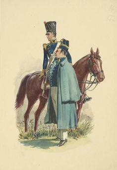 Cavalieri del 4 rgt. cavalleria di linea del regno delle due Sicilie