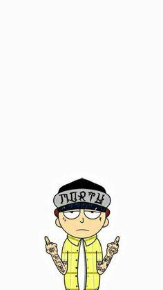 Trippy Wallpaper, Iphone Wallpaper, Rick Und Morty Tattoo, Tatuaje Rick And Morty, Rick And Morty Drawing, Rick I Morty, Rick And Morty Poster, Ricky And Morty, Arte Hip Hop