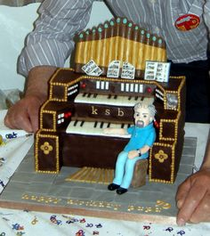 Lovely cake made for Keith, who repairs pipe organs......