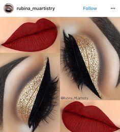 21 Red Lip Makeup Ideas 21 Rote Lippen Make-up Ideen Red Lip Makeup, Cute Makeup, Gorgeous Makeup, Eyeshadow Makeup, Hair Makeup, Eyeshadows, Eyeshadow Pencil, Makeup Art, Lipsticks