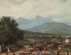 Village of San Rocco near the Town of Corfu, 1835 Karl Bryullov