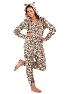 Womens Onesie. Leopard Check it out at: www.ebay.co.uk/... Nightwear, Hoods, Winter Outfits, All In One, Onesies, Wrap Dress, Cute Outfits, Jumpsuit, Dresses For Work