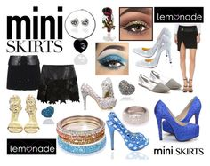 """""""Mini Skirts Lemonade Suggestions - Team up with sparkly Lemonade Accessories"""" by lovelemonade ❤ liked on Polyvore featuring BCBGMAXAZRIA, Versus and Disney"""