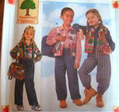 SIMPLICITY Sewing Pattern 7339 5,6,7,8 VEST SHIRT PANTS BAG