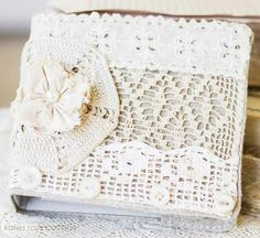 Lace pastels scrapbook diary