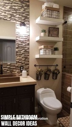 Guest Bathrooms, Bathroom Kids, Bathroom Design Small, Diy Bathroom Decor, Budget Bathroom, Dream Bathrooms, Amazing Bathrooms, Remodel Bathroom, Modern Bathroom