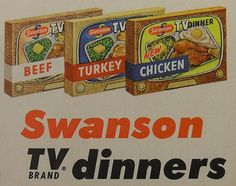 Swanson TV Dinners 1950s Vintage Advertisement by Christian Montone