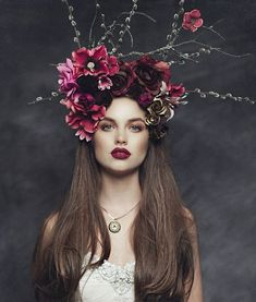 Flower headpiece, floral headdress, headpiece wedding, fascinator, hippie f Floral Headdress, Flower Headpiece, Fascinator, Wedding Headband, Flower Crown Wedding, Bridal Hair, Hair Wreaths, Floral Headbands, Floral Crowns