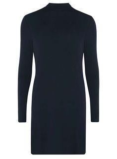 Womens **Noisy May Navy Long Sleeve Shift Dress- Navy